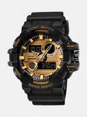 Moška ura Sanda Master II črno-zlata