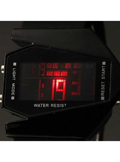 Moška LED V ura črna