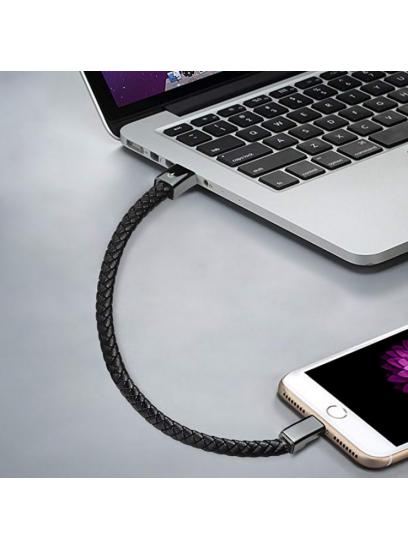 Unisex usnjena zapestnica + polnilni kabel