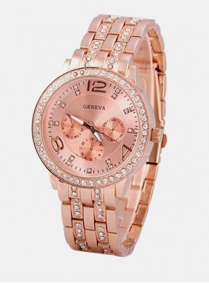 Ženska ura Geneva Diamond rose gold